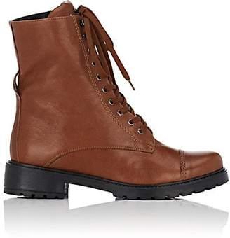 FiveSeventyFive Women's Leather Combat Boots - Brown