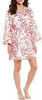 Oscar de la Renta Rose Petal Charmeuse Wrap Robe