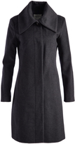Cole Haan Charcoal Wool-Blend Peacoat
