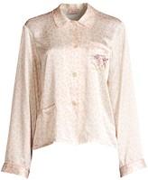 Morgan Lane Atlanta de Cadenet Taylor x Ruthie Leopard-Print Silk Pajama Pants