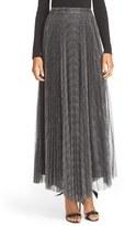 Alice + Olivia Women's Katz Sunburst Pleated Maxi Skirt