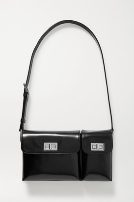 BY FAR Billy Glossed-leather Shoulder Bag - Black