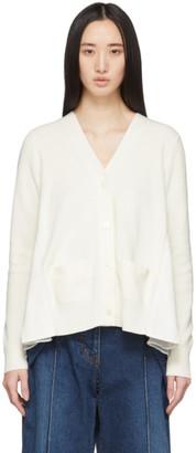 Sacai Off-White Wide Pleat Cardigan