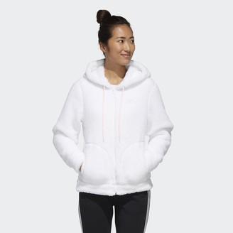 adidas Must Haves Sherpa Full-Zip Hoodie