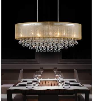 clear Cwi Lighting Radiant 9-Light Chandelier CWI Lighting Shade Color: Gold, Crystal Color