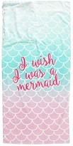 Capelli of New York Girl's I Wish I Was A Mermaid Towel Backpack - Pink