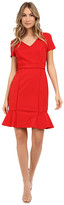 NUE by Shani Ponte Knit Dress w/ Satin Piping Detail