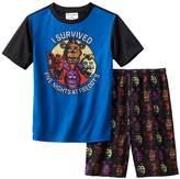 Bioworld Boy's Size I Survived Five Nights at Freddy's Gaming Pajama Shorts Set