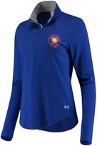 Under Armour Women's Royal New York Mets Charged Cotton Half-Zip Pullover Jacket