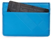 Burberry Men's Embossed Check Card Case - Blue