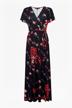French Connection Floral V Neck Maxi Dress