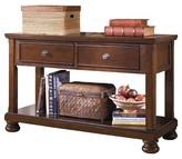 Ashley Porter Sofa-Console Table - Rustic Brown - Signature Design®