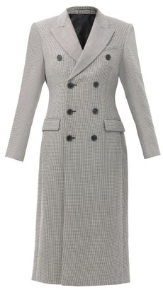Wardrobe NYC Release 05 Double-breasted Merino-wool Coat - Black White