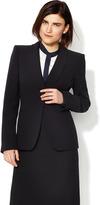 Giorgio Armani Silk Crepe Spread Lapel Blazer