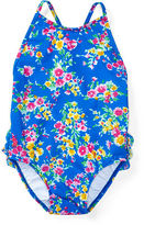 Ralph Lauren Girl Floral Cross-Back Swimsuit