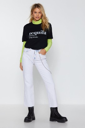 Nasty Gal Womens The Definition of Tequila Graphic Tee - Black - M