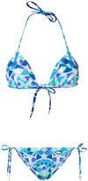 Emilio Pucci printed triangle bikini set