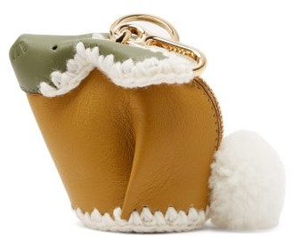 Loewe Bunny Coin-purse Leather Key Ring - Womens - Yellow Multi