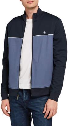 Original Penguin Penguin Zip-Front Colorblock Track Jacket