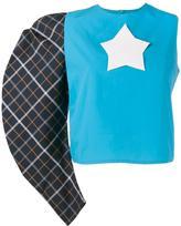 Awake one sleeve star logo top - women - Nylon/Polyester/Cotton - 34