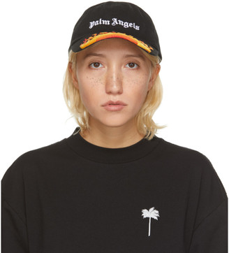 Palm Angels Black Flame Cap