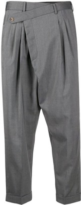 R 13 Cropped Crossover Trousers