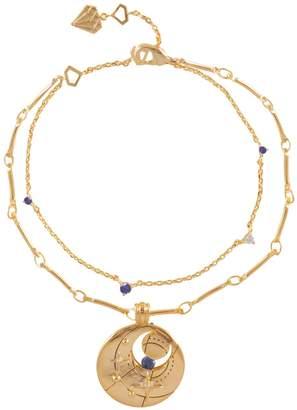 Wanderlust + Co September Birthstone Gold Bracelet