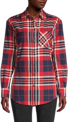 Trina Turk Plaid Print Long Sleeves Shirt