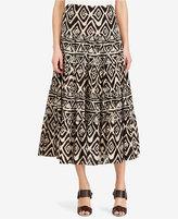 Lauren Ralph Lauren Petite Geometric Cotton Maxiskirt