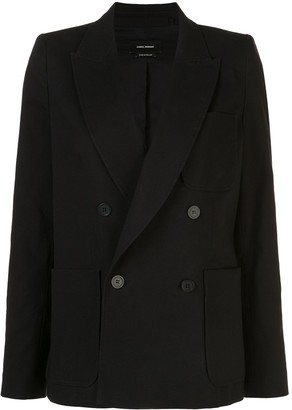 Isabel Marant Double Breasted Patch-Pocket Blazer