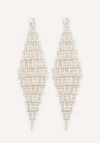 Bebe Crystal Chevron Earrings