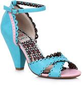 Bettie Page Blue Minny D'Orsay Sandal