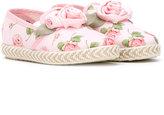 MonnaLisa floral embellished slippers
