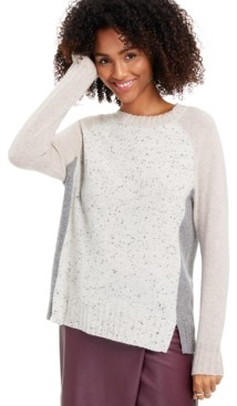 Charter Club Donna Cashmere Colorblock Sweater, Created for Macy's