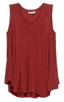 Bobeau Addiyln Volumous V Neck Tank.