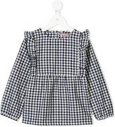 Emile et Ida gingham pattern ruffle dress