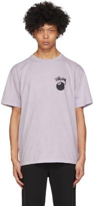 Stussy Purple Pigment-Dyed 8 Ball T-Shirt