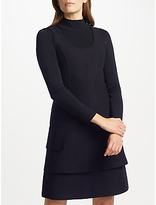 Marc Cain Tiered Flounce Wool Dress, Black