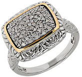 Lord & Taylor Diamond, 14k Gold and Sterling Silver Ring
