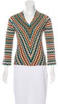 Missoni Wool-Blend Long Sleeve Top