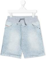 Diesel striped denim shorts
