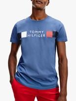 Tommy Hilfiger Stripe Logo T-Shirt, Faded Indigo