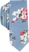 Original Penguin Men's Chambray Floral Skinny Tie