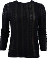 Oscar de la Renta Mesh Knit Pullover