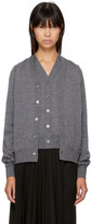 Comme des Garcons Grey Wool Double Front Cardigan
