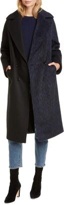 Helene Berman Colorblock Double Breasted Coat