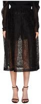 Vera Wang Mid Calf Skirt with Draw Cord Waistband