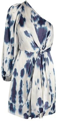 Shona Joy Palmar Print One-Shoulder Dress