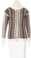Chanel Intarsia Zip Cardigan