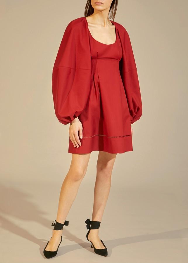 KHAITE The Madison Dress in Oxblood